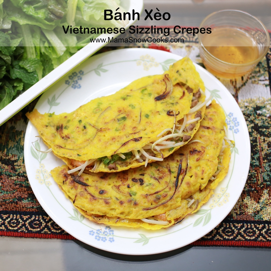 Vietnamese Sizzling Crepes - Banh Xeo Recipes